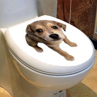 PVC Toiletsticker met Hondje