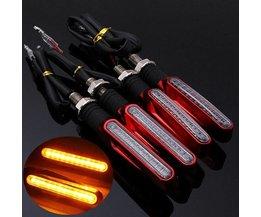LED Knipperlichten Motor Rood 4 Stuks