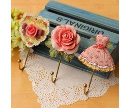 Kledinghaakje Romantisch Hart Roos Japon