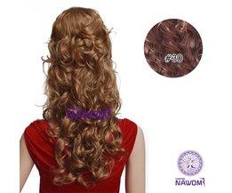 NAWOMI Clip-In Hairextensions 45cm Kleur Bruin (#30)  7 Stuks