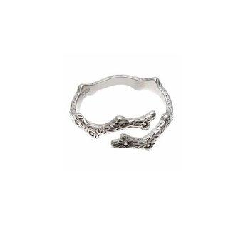 Open Ring 925 Sterling Zilver en Kristallen