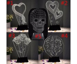 LED nachtkast lamp 3D USB
