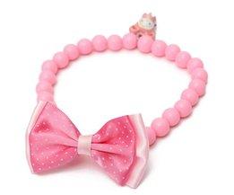 Roze Halsband met Strik
