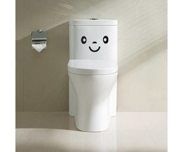 Leuke Toiletsticker met Smiley