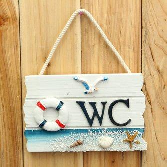 Houten Wandbord voor de WC Deur