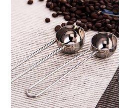 Maatlepels voor Koffie en Thee 5 Stuks
