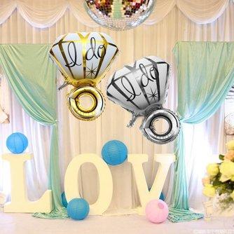 Ballon Huwelijk Grote Diamant Ring