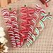 Kerstboomversiering Krullen 4Stuks