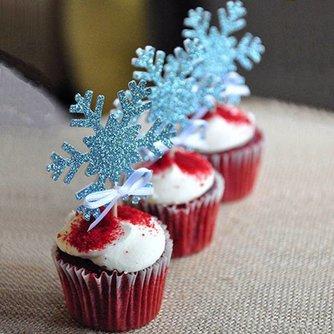 Sneeuwvlok Cupcake Toppers 10 Stuks