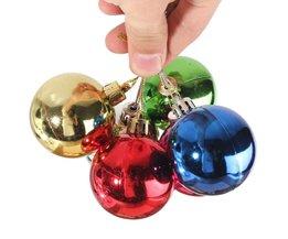 Gekleurde Kerstballen (6 Stuks)