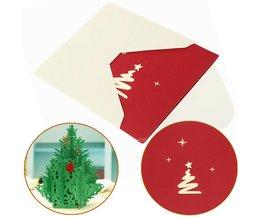 3D Kerstboom Kaart