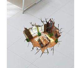 Decoratieve 3D Vloersticker van PVC