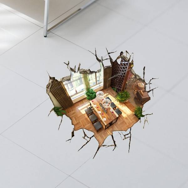 Decoratieve 3D Vloersticker van PVC kopen? I MyXLshop (Tip)