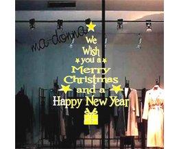 "Raamsticker ""Merry Christmas"""