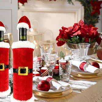 Kerstmis Wijnfleshouder per 5 stuks