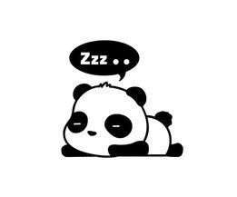 Panda Muursticker 3 Stuks