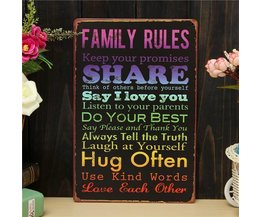 Bord met Family Rules