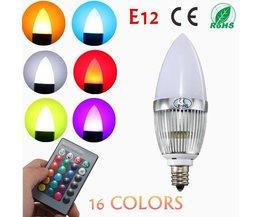 E12 RGB LED Gloeilamp met afstandsbediening