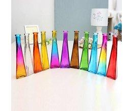 Glazen Vaasje in Mooie Kleuren