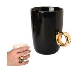 Creatieve drinkbeker met ring in verschillende kleuren