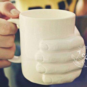 Grappige Koffiemok met Hand