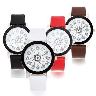 Wecin 1335 Unisex Horloge met Imitatieleren Band
