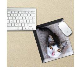 Waterdichte Muismat met een sticker van een kat