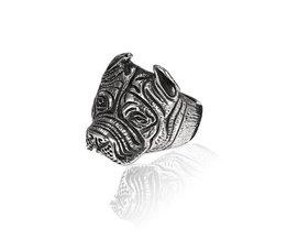 Pitbull Ring Titanium Staal