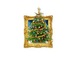 Muursticker met Kerstboom