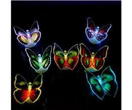 Glow in the Dark Vlinders (6 Stuks)