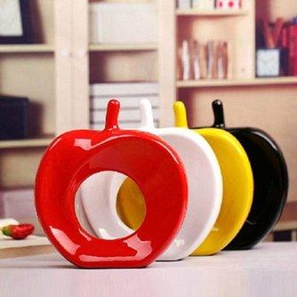 Keramisch aardewerk appelvorm in verschillende kleuren