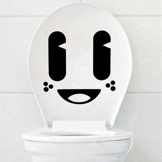 Vrolijke Toiletsticker met Smiley