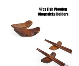 Houten Vis Chopsticks Houder 4 stuks