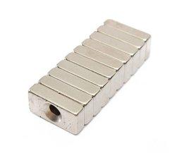 Neodymium Blok Magneet 10Stuks