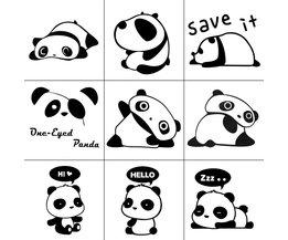 Set met Panda Stickers 9 Stuks