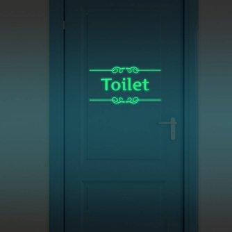 Lichtgevende Deursticker voor Badkamer