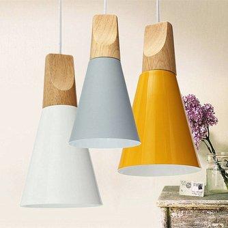 Mooie Vintage Hanglamp van Hout