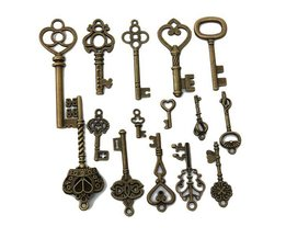 Vintage Sleutels In Verschillende Vormen 15 Stuks