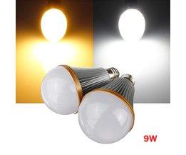 E27 Dimbare LED lamp In Twee Kleuren 9W