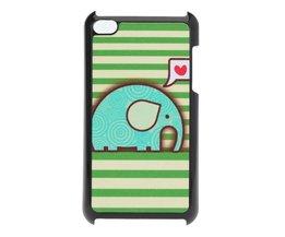 Schattige Olifant Cartoon Beschermhoes voor de iPod touch 4/4G