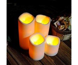 Cilindrische LED Kaarsen van Kunststof