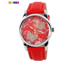 Vlinder Horloge met PU Leren Bandje Skmei 9079