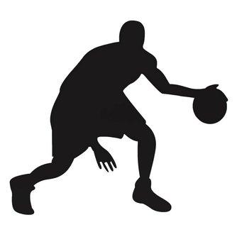 Sport-Muursticker  met Basketballer