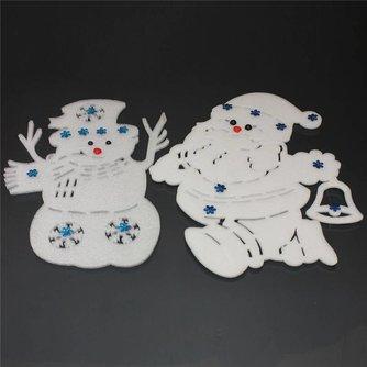 Kerstversiering met Sneeuwpop of Kerstman