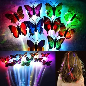 Glow in the Dark Hair Extensions met LED