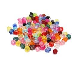 Gekleurde Kralen Mix van Plastic 4MM