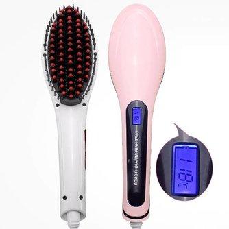 Elektrische Haarborstel Straightener LCD