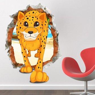 Muursticker met Luipaard voor Kinderkamer