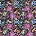 Kleurrijke vloer decoratiesticker