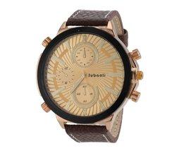 JUBAOLI 1198 Horloge Met Leren Bandje In Meerdere Kleuren